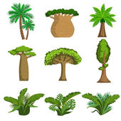 Jungle Trees And Plants Set