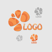 Abstract Flower logo template