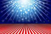 Independence Day of America Background with stars stripes and light