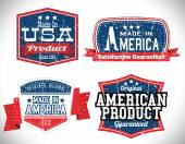Collection of vintage American product labels