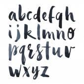 English alphabet watercolor brush mascara