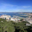 Постер, плакат: Gibraltar airport and Harbor