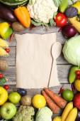 érett gyümölcsök és zöldségek