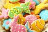 Barevné Velikonoce sušenky