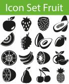 Icon Set Fruit with 16 icons for the creative use in graphic design