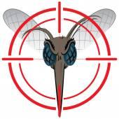 Natur, Sehenswürdigkeiten Mosquito mit Stelzenläufer Signal oder Ziel, vorne Kopf. Ideal für Informations- und institutionelle Verwandte Hygiene und Pflege