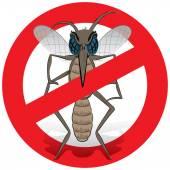 Natur, Mosquito Stelzenläufer mit verboten Schild vorne. Ideal für Informations- und institutionelle Verwandte Hygiene und Pflege