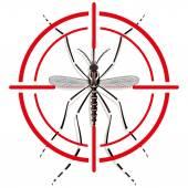 Natur, Stelzen Aedes Aegypti Moskitos mit Anblick-Signal oder Ziel, Ansicht von oben. Ideal für Informations- und institutionelle Verwandte Hygiene und Pflege