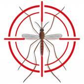 Natur, Kontur Mosquito Stelzenläufer mit Anblick-Signal oder Ziel, Ansicht von oben. Ideal für Informations- und institutionelle Verwandte Hygiene und Pflege