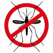 Natur, Kontur, die Mücken mit Stelzen verboten Schilder, Ansicht von oben. Ideal für Informations- und institutionelle Verwandte Hygiene und Pflege