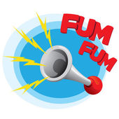 Icon symbol horn sound instrument with onomatopoeia Ideal for informational and institutional