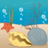 Abbildung Umwelt Natur, der Meeresboden-Umgebung. Ideal für den pädagogischen und informierenden Materialien