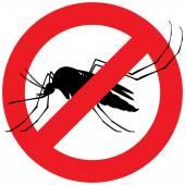 Natur, Stelzen Kontur Mücken mit verbotenen Zeichen. Ideal für Informations- und institutionelle Verwandte Hygiene und Pflege