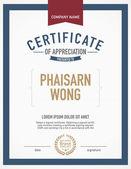 Moderní Vystavovaná šablona certifikátu