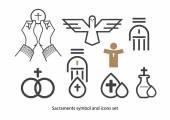 Szentségek ikon készlet