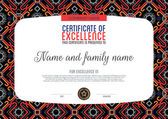 Certificate and patturn background template