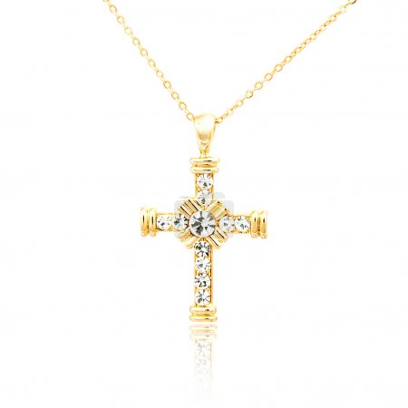 Golden cross pendant