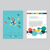 Brochure template design Abstract Background Flat Infographic Concept