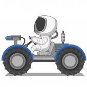 Astronaut on the lunar roverVector illustration