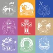 Húsvéti illusztrációk csoportja