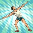 Постер, плакат: Javelin thrower athletics summer sports games