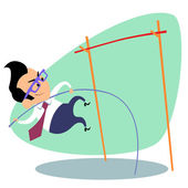 Podnikatel tyči výška obchodní téma sport