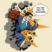 Üzleti áttörés sikeres üzletember hős áttöri th