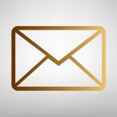 Dopis znamení. Ploché styl ikon