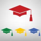 Mortar Board or Graduation Cap Education symbol