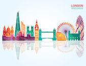London Skyline abstract Vector illustration