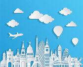 Europe skyline detailed silhouette Vector illustration