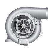Automotive turbocharger vehicle illustration