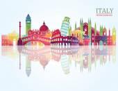Italy skyline illustration