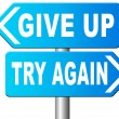 Постер, плакат: Never give up try again keep going