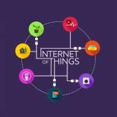 Internet věcí ploché ikony ilustrace