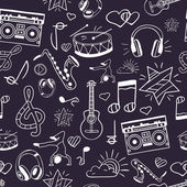Vector seamless musical pattern Hand draw doodles Notes love musical instruments music life Illustration can be used for wrappers websites banners flyers posters surface texture