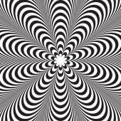 Abstraktní vektorová černobílé pruhované pozadí. Optický klam