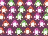 Cartoon penguin wallpaper design
