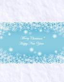 Vector abstract Christmas background with snow texture and snowflakes