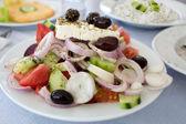 Greek salad in taverna
