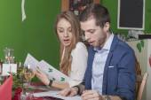 Couples surprised about high prices in menu
