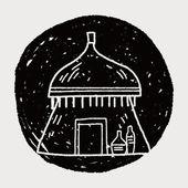 Africký dům doodle