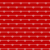 Rope wires with heart knots red seamless pattern