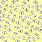 Print fabric with sneakers sports shoes painted in the vector