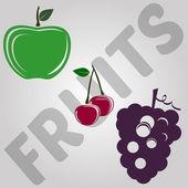 3 fruits vector eps 10