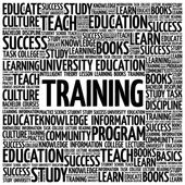 TRAINING word cloud education concept background