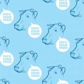 Seamless Pattern a tehén
