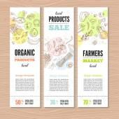 A bannerek, bio zöldség készlet