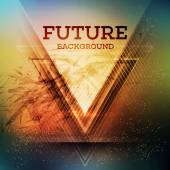 Abstract triangle futuristic vector background