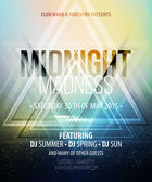 Midnight Madness Party Template poster Vector illustration EPS 10